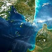 Sunda Strait,satellite image