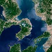 Mount Unzen,satellite image