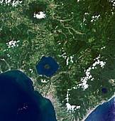 Mount Usu,satellite image