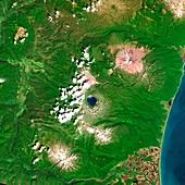 Russian volcanoes,satellite image