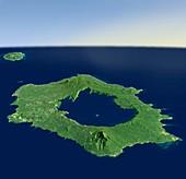 Long Island,3D satellite image
