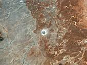 Barringer crater,satellite image