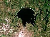 Lake Wanapitei,satellite image