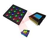 Super CCD chip,artwork
