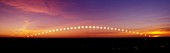 Time-lapse image of a suntrail