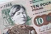 Ten pound Scottish banknote