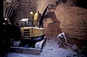 Metro train tunnel construction