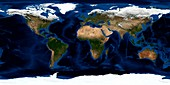 Earth,topographic and bathymetric map