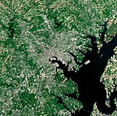 Baltimore,USA,satellite image
