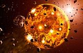 Planetary formation,artwork