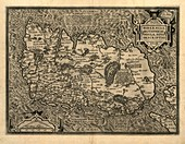 Ortelius's map of Ireland,1598