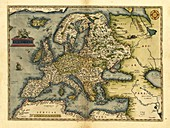 Ortelius's map of Europe,1570