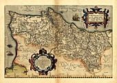 Ortelius's map of Portugal,1570