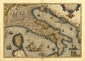 Ortelius's map of Italy,1570