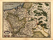 Ortelius's map of Poland,1570