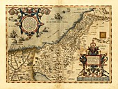 Ortelius's map of Palestine,1570