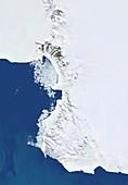 Victoria Land,Antarctic satellite image