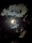 Total solar eclipse,diamond ring effect