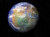 Pangea supercontinent,artwork