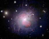 Active galaxy NGC 1275,composite image