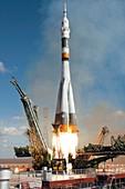 Soyuz TMA-13 launch,October 2008