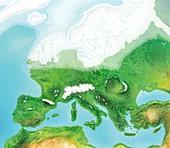 European glaciation,artwork