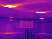 Thermogram,heating vent,temp variation