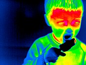 Eating an iced lolly,thermogram