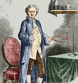 Galvani experimenting on frogs