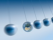 Newtonian Earth,conceptual artwork