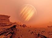 Jupiter from Io,artwork