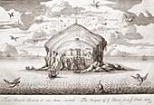 Bass Rock,Scotland,17th century artwork