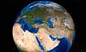 Europe,satellite image