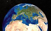 Mediterranean Sea,satellite image
