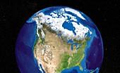 North America,satellite image