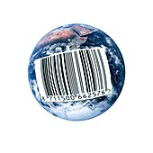 Barcoded Earth,conceptual image