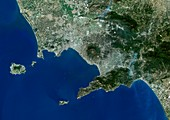 Gulf of Naples,Italy,satellite image