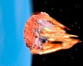 Meteorite atmospheric entry,artwork