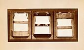 Muybridge motion study shutters,1870s
