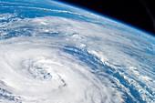 Hurricane Epsilon,ISS image