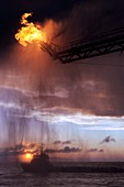 Gulf of Mexico oil spill flaring,2010