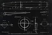 German WWII ramjet engine blueprint
