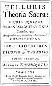Burnet's Telluris Theoria Sacra,1689