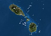 Saint Kitts and Nevis,satellite image