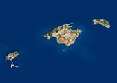 Balearic Islands,satellite image