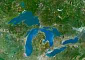 Great Lakes,satellite image