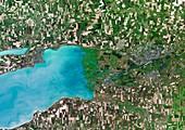 Don River Delta,satellite image