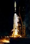 Ranger 1 Atlas-Agena rocket launch