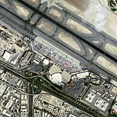 Dubai Airshow,satellite image