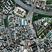 Central Moscow,satellite image